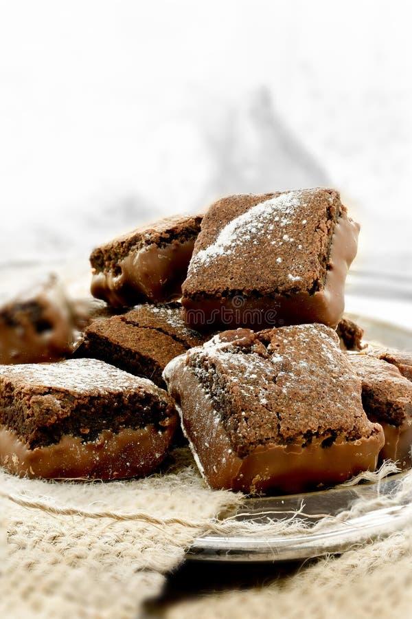 Brownie σοκολάτας μακροεντολή στοκ φωτογραφία με δικαίωμα ελεύθερης χρήσης