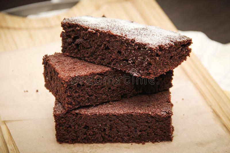 Brownie σοκολάτας στοκ φωτογραφίες