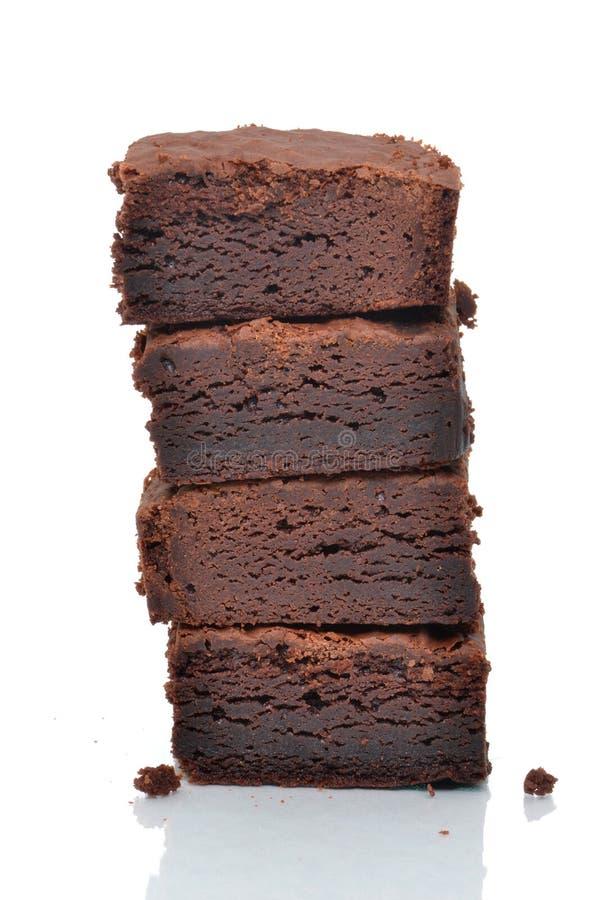 Brownie casalinghi immagini stock libere da diritti