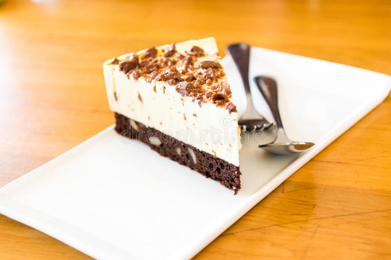 Brownie Cheesecake royalty free stock images