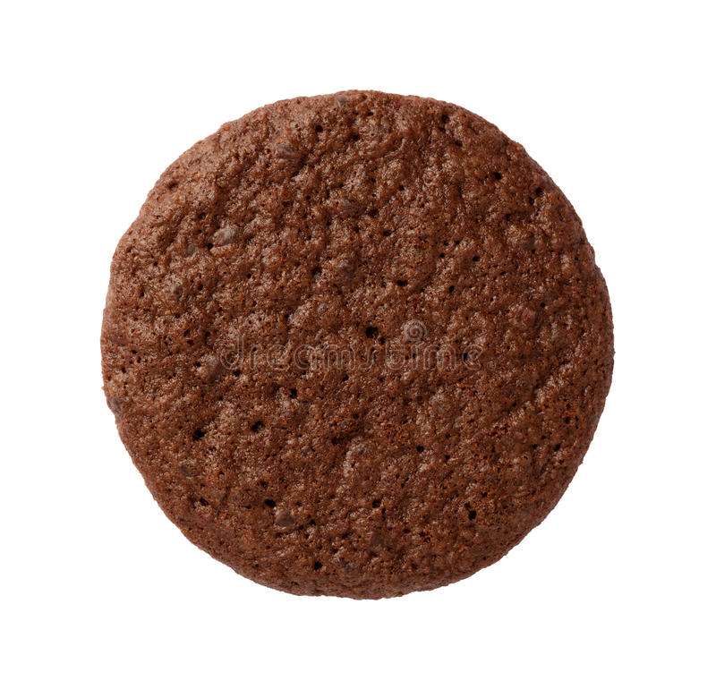 Brownie Cookie isolated. On a white background. The isolation is on a transparent background in the PNG format royalty free stock image