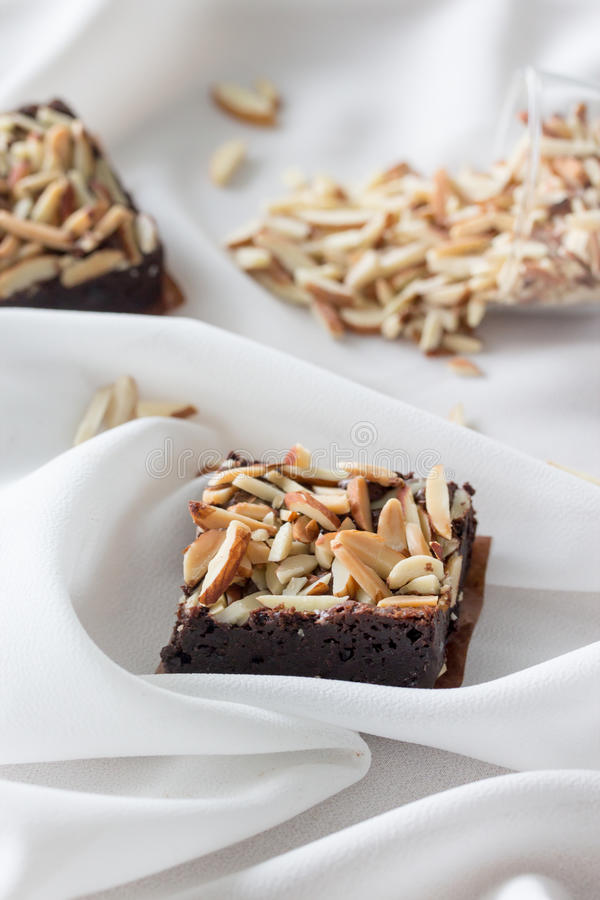 'brownie' d'amande image libre de droits