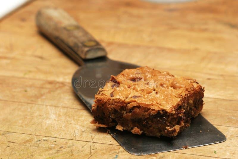 Brownie da microplaqueta de chocolate fotos de stock