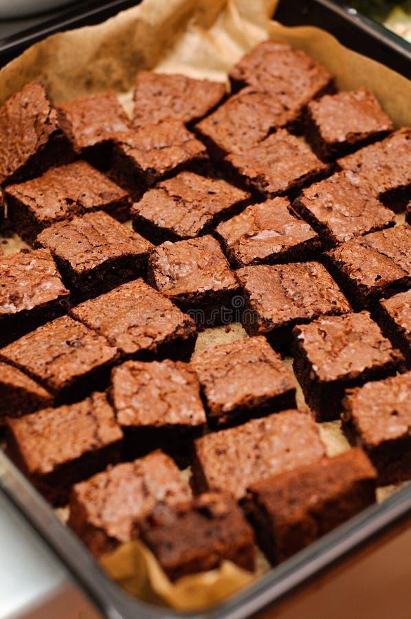 'brownie' de chocolat image libre de droits