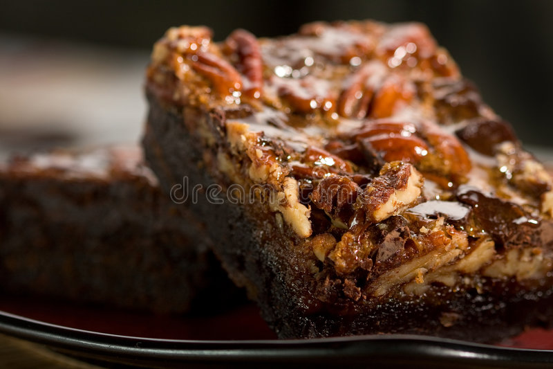 'brownie' de chocolat photographie stock