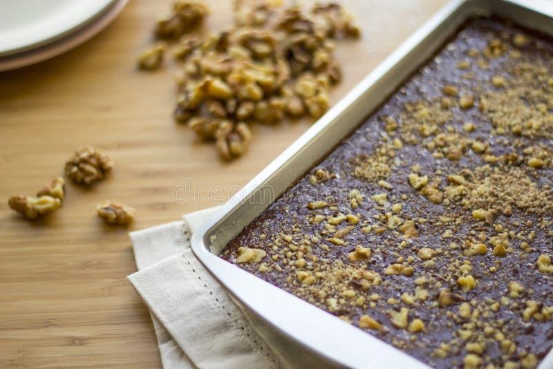 Brownie de Coco Vegano immagine stock