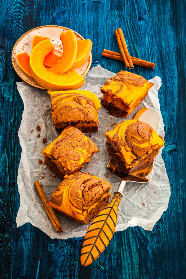 'brownie' de potiron photographie stock