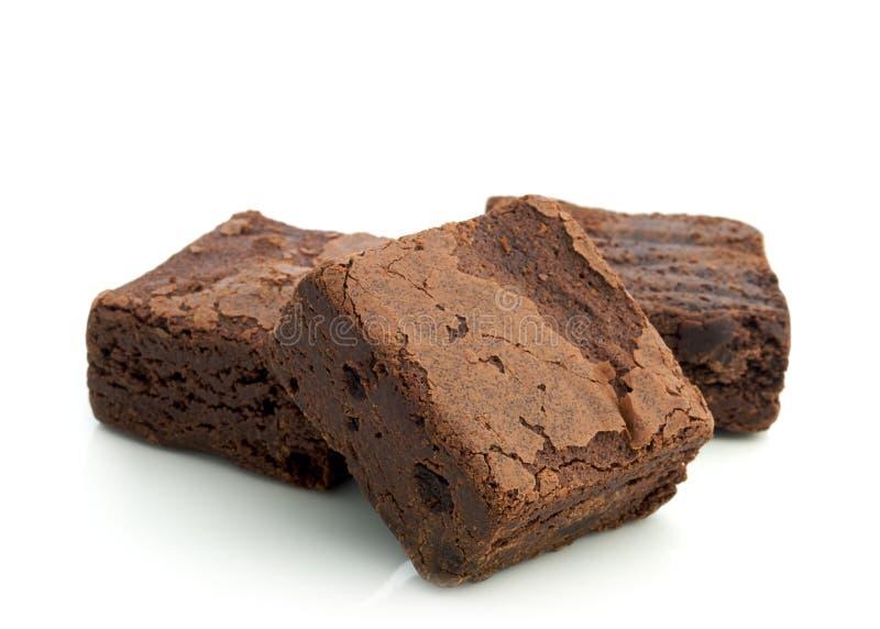 Brownie del chocolate imagen de archivo