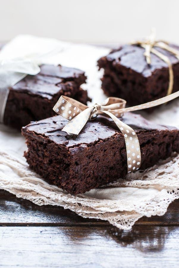 Brownie del chocolate foto de archivo libre de regalías