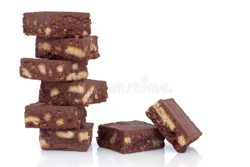 Brownie del cioccolato immagini stock