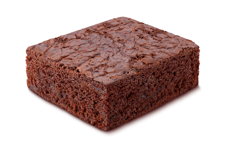 Brownie del cioccolato fotografie stock