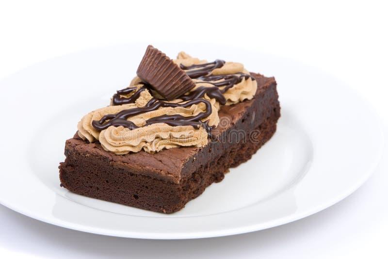 Brownie del fondente di cioccolato fotografia stock