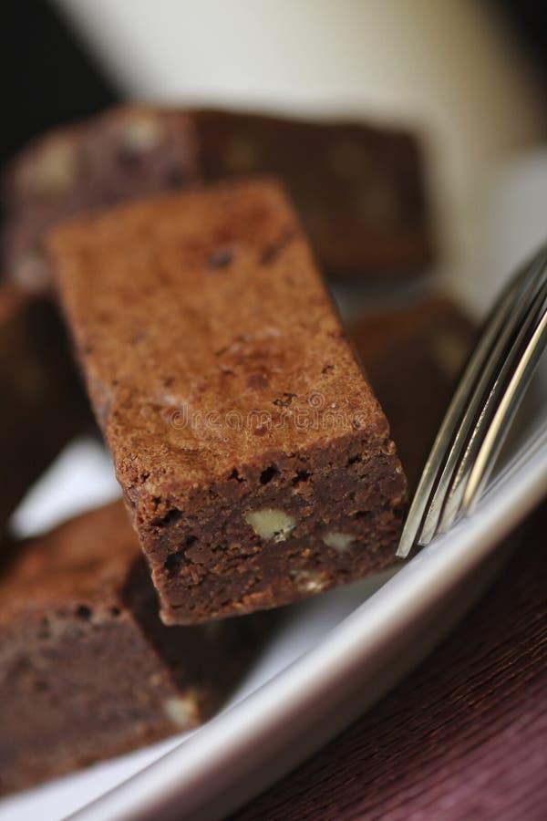 'brownie' et lait de chocolat photos libres de droits