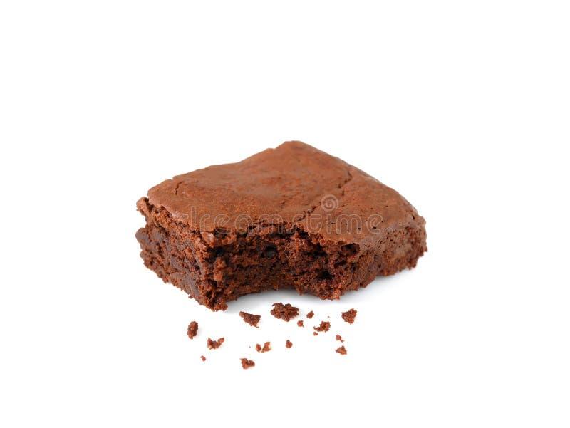 'brownie' fait maison de chocolat avec des miettes photo libre de droits