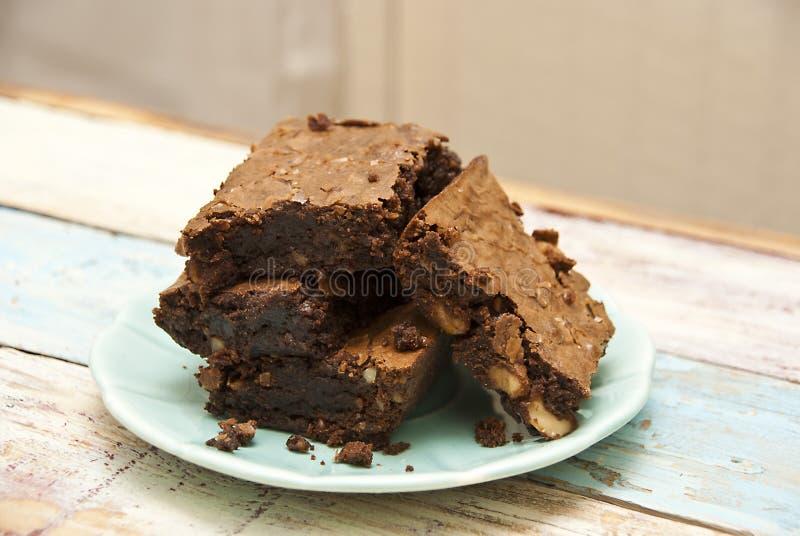 brownie Gluten-libres fotografía de archivo