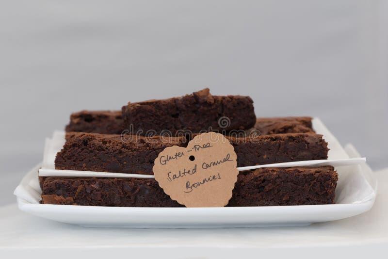 brownie Gluten-libres fotos de archivo