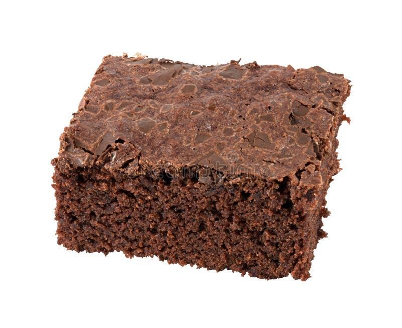 Brownie isolada imagens de stock royalty free