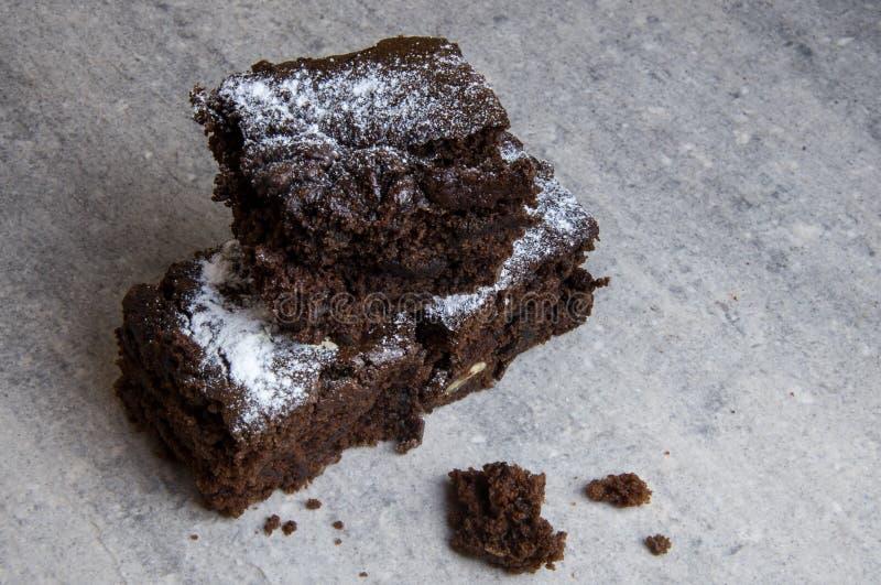 Brownie libres del chocolate del gluten imagen de archivo libre de regalías