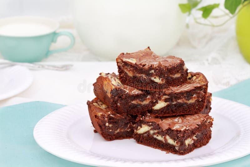 'brownie' marbré images libres de droits