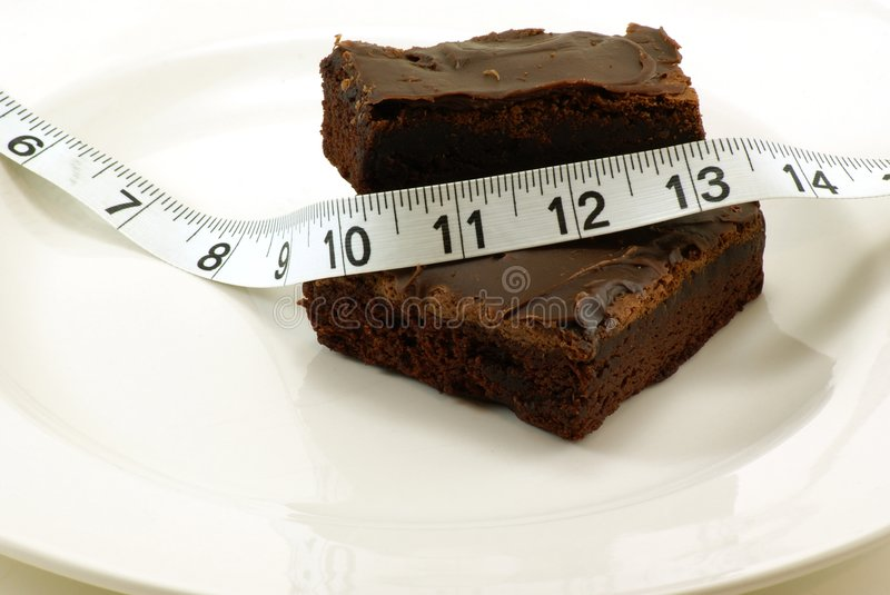 Download Brownie With Measuring Tape Royalty Free Stock Photos - Image: 4115348