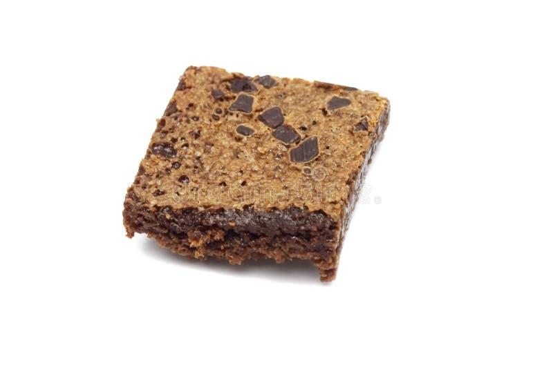 Brownie op witte achtergrond wordt ge?soleerd die royalty-vrije stock fotografie