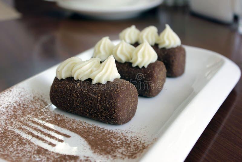 Brownie ruso o de los posts tradicional recientemente cocinado del soviet imagen de archivo
