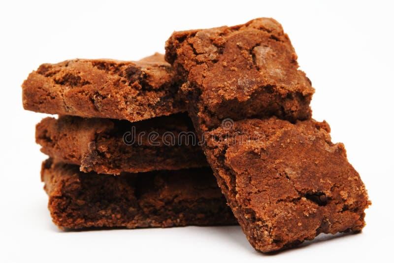 Brownie su bianco fotografie stock libere da diritti