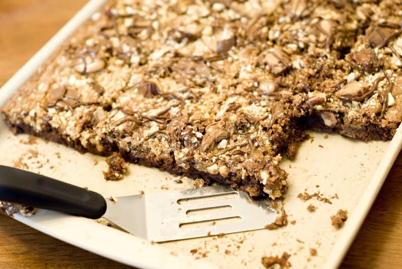 brownies καραμέλα nutty στοκ φωτογραφίες