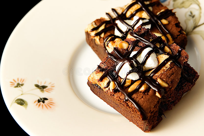 Brownies royalty-vrije stock fotografie