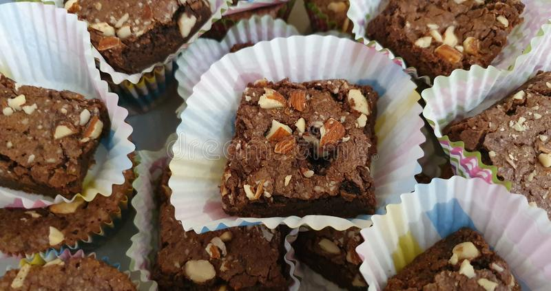 Brownies Chocolate Made in Cebu, Filippinerna arkivbild