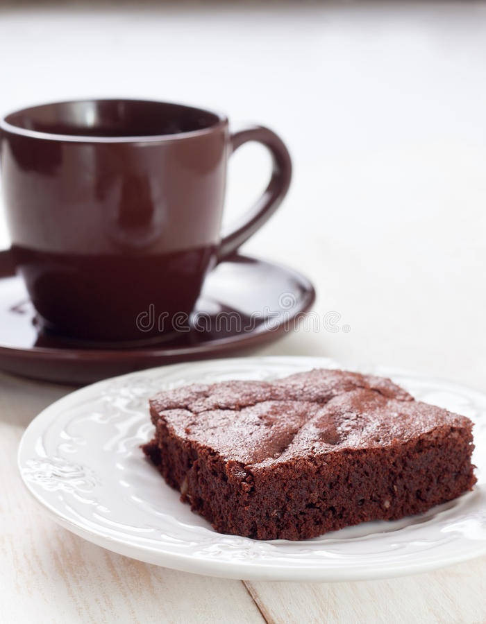 Download Brownies And Cup Of Coffee Stock Photo - Image: 83702601