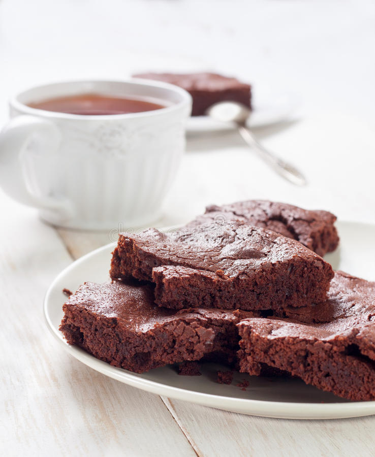 Download Brownies And Cup Of Coffee Stock Photo - Image: 83703215