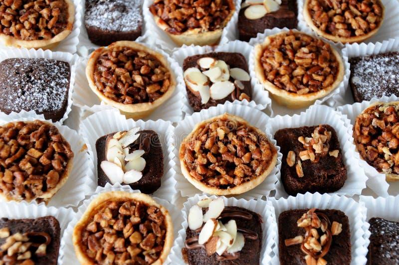 Brownies do casamento fotografia de stock royalty free
