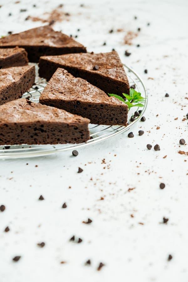 Brownies do chocolate imagens de stock royalty free