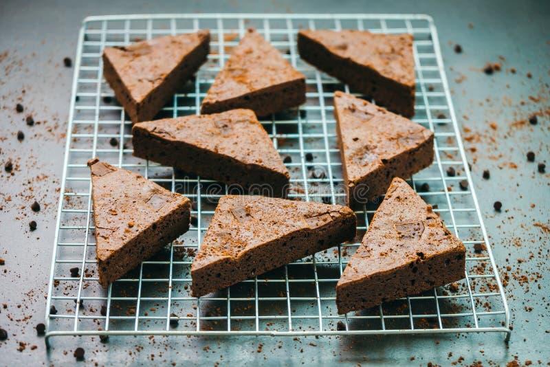 Brownies do chocolate fotos de stock