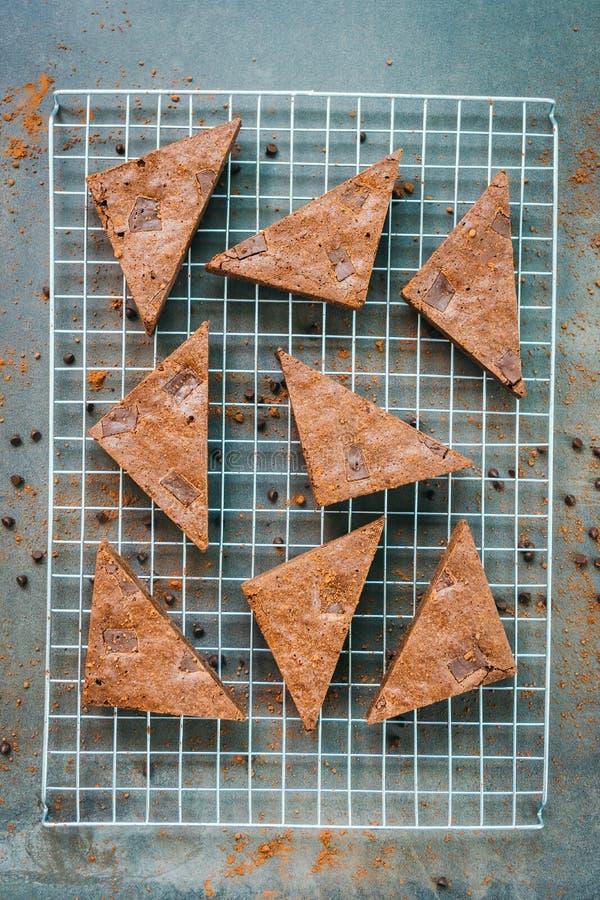 Brownies do chocolate fotos de stock royalty free