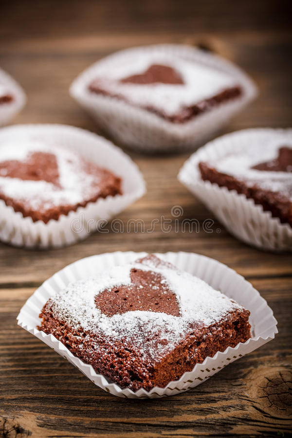 Brownies do chocolate imagens de stock royalty free