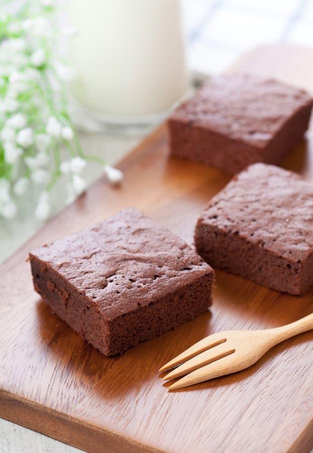 Brownies do chocolate fotografia de stock royalty free