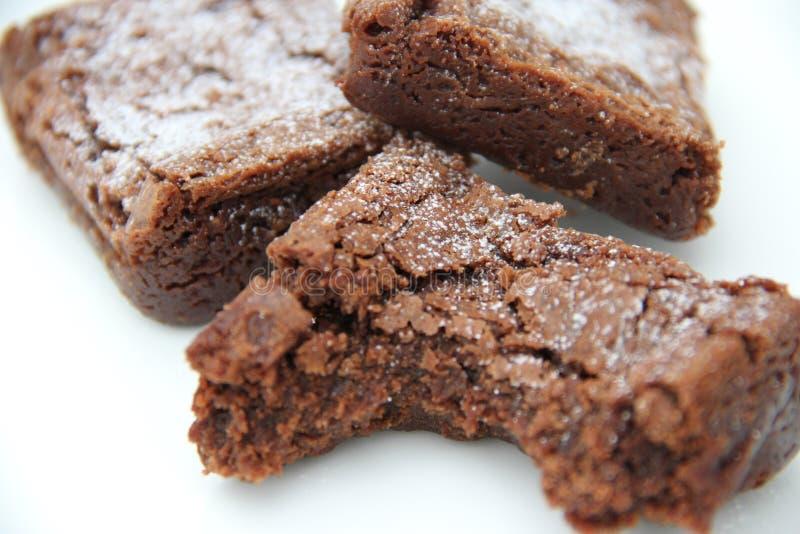 Brownies do chocolate imagem de stock royalty free
