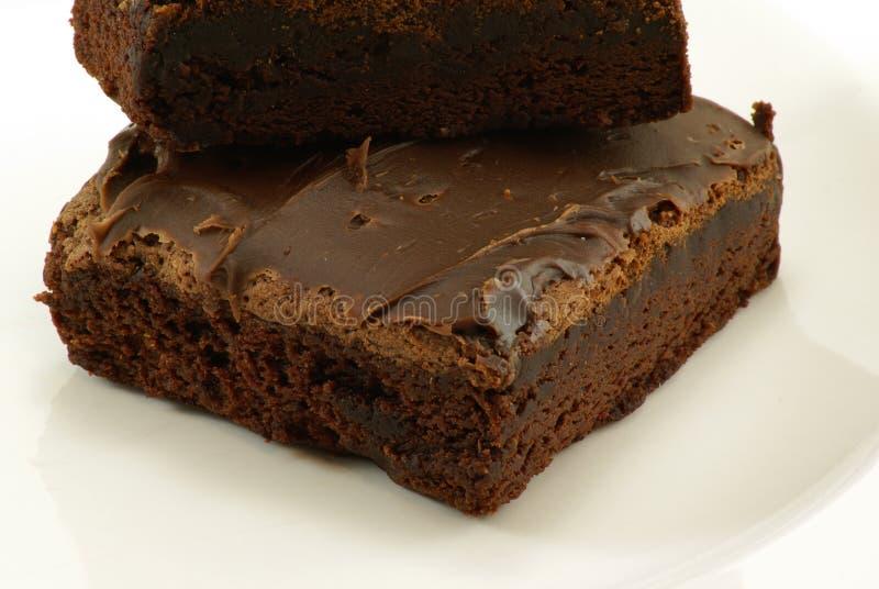 Brownies do Fudge fotos de stock