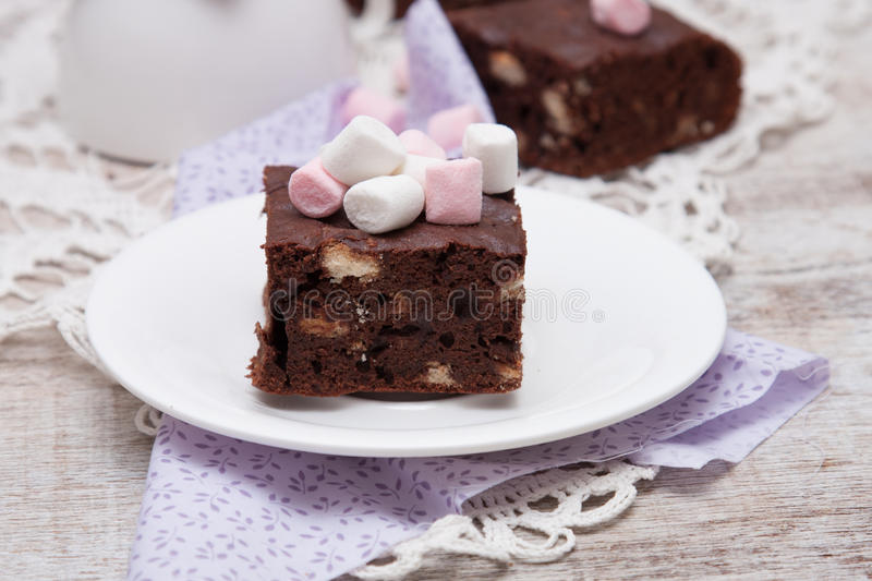 Brownies. Sweet homemade delicious chocolate Brownies stock photography