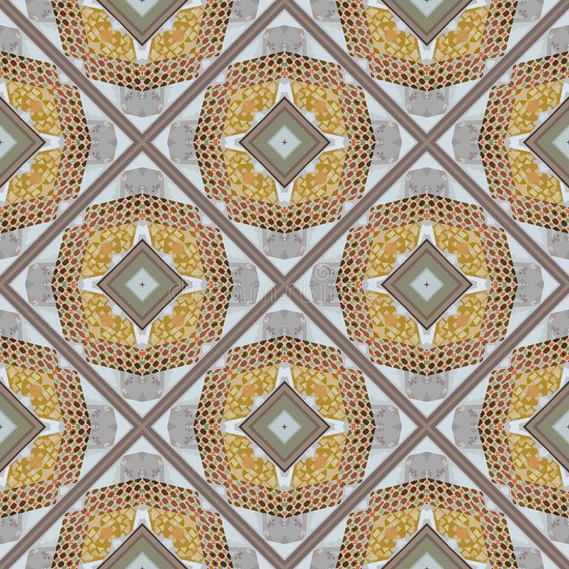 Cloth-like Pattern for Seamless Tile Background. Brownish Colored Design for Seamless Tile Background or Copy Space stock photo
