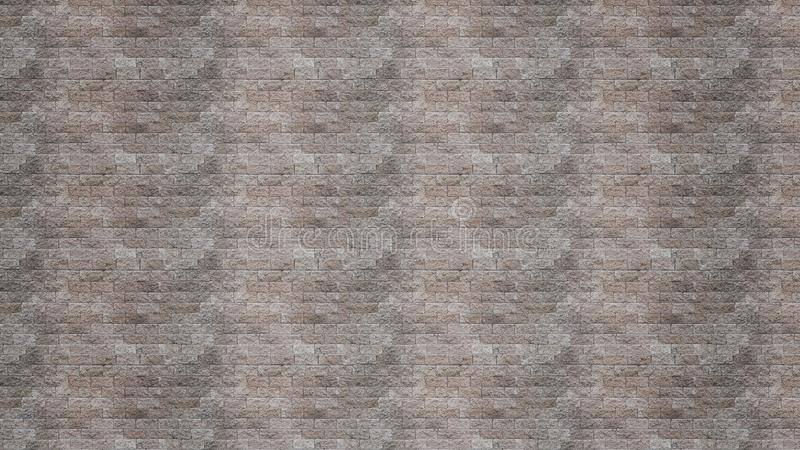 Brownish-gray brick wall texture grunge background. With vignetted corners, may use to interior design royalty free stock photography