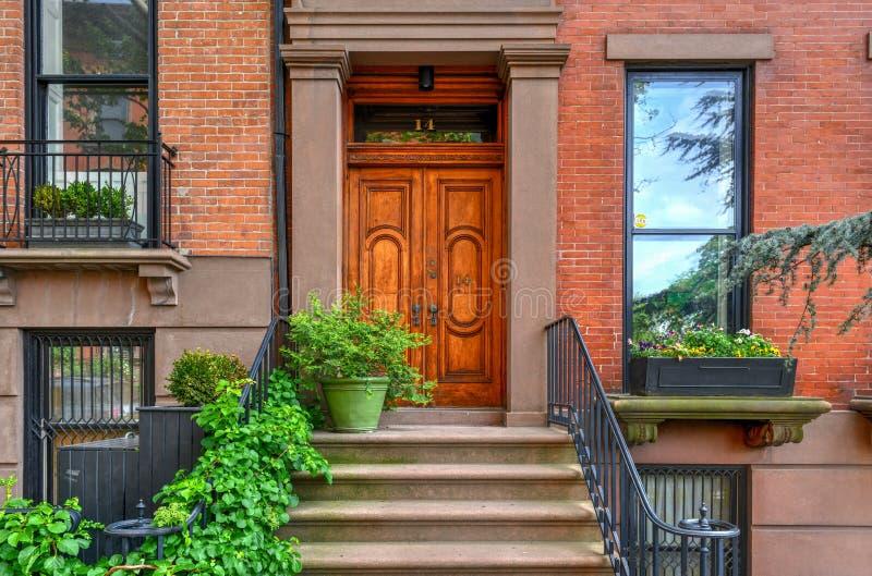Brownstone - de Hoogten van Brooklyn, Brooklyn royalty-vrije stock fotografie