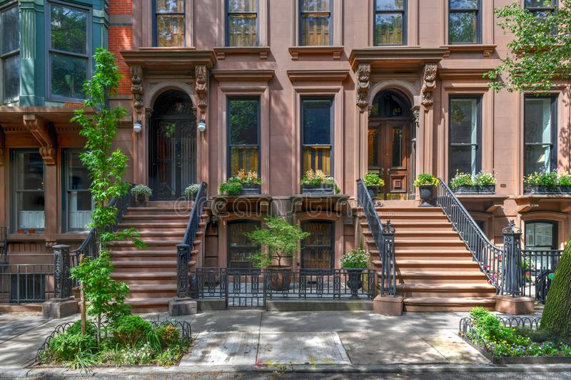Brownstone - de Hoogten van Brooklyn, Brooklyn royalty-vrije stock foto
