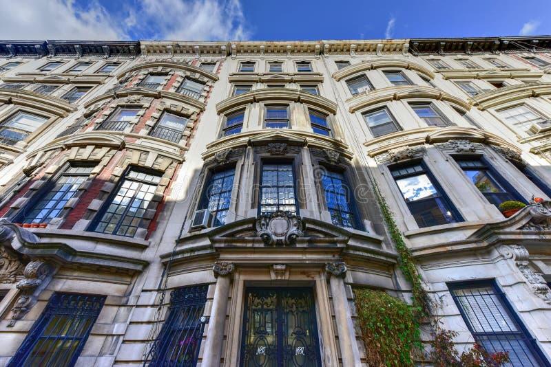 Brownstone Huizen van de Stad van New York stock foto's