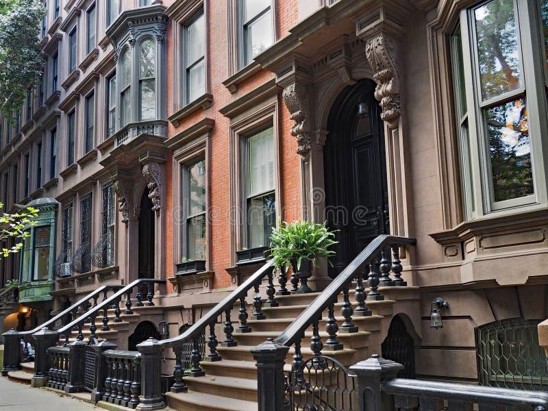 brownstone New York стоковое изображение rf