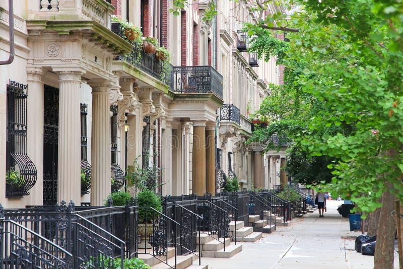 brownstone New York стоковые изображения rf