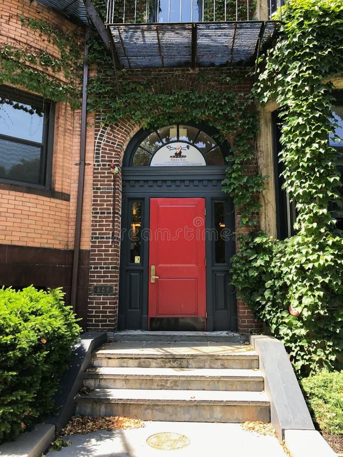 Brownstonegebäude in Boston, MA lizenzfreies stockfoto
