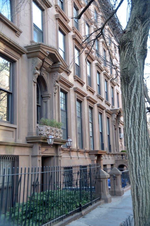 Brownstones de Brooklyn fotos de stock